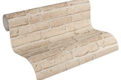 35581-2 cikkszámú tapéta.3d hatású,kőhatású-kőmintás,retro,barna,súrolható,vlies tapéta
