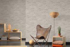 35581-3 cikkszámú tapéta.3d hatású,kőhatású-kőmintás,retro,szürke,súrolható,vlies tapéta