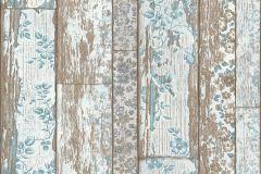 36119-1 cikkszámú tapéta.Csíkos,fa hatású-fa mintás,különleges motívumos,természeti mintás,barna,kék,szürke,súrolható,illesztés mentes,vlies tapéta