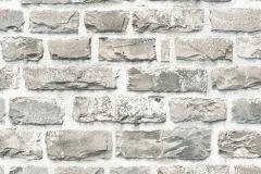 36140-2 cikkszámú tapéta.3d hatású,kőhatású-kőmintás,szürke,súrolható,vlies tapéta