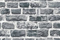 36140-4 cikkszámú tapéta.3d hatású,kőhatású-kőmintás,fekete,szürke,súrolható,vlies tapéta