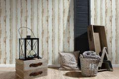 36893-1 cikkszámú tapéta.Csíkos,fa hatású-fa mintás,barna,súrolható,illesztés mentes,vlies tapéta