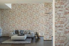 36929-1 cikkszámú tapéta.Kőhatású-kőmintás,retro,barna,narancs-terrakotta,szürke,súrolható,vlies tapéta