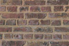 37161-1 cikkszámú tapéta.3d hatású,kőhatású-kőmintás,retro,barna,narancs-terrakotta,súrolható,vlies tapéta