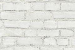 37414-2 cikkszámú tapéta.3d hatású,kőhatású-kőmintás,retro,fehér,súrolható,vlies tapéta