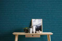 37414-4 cikkszámú tapéta.Kőhatású-kőmintás,kék,súrolható,vlies tapéta