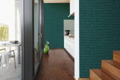 37414-5 cikkszámú tapéta.Kőhatású-kőmintás,zöld,súrolható,vlies tapéta