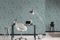 37415-3 cikkszámú tapéta.Beton,kőhatású-kőmintás,barna,kék,súrolható,vlies tapéta