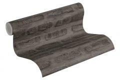 37422-3 cikkszámú tapéta.Kőhatású-kőmintás,fekete,súrolható,vlies tapéta