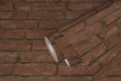 37747-1 cikkszámú tapéta.3d hatású,kőhatású-kőmintás,retro,barna,súrolható,vlies tapéta