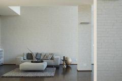 37747-4 cikkszámú tapéta.3d hatású,kőhatású-kőmintás,fehér,lemosható,vlies tapéta