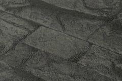 7071-23 cikkszámú tapéta.3d hatású,kőhatású-kőmintás,fekete,súrolható,vlies tapéta