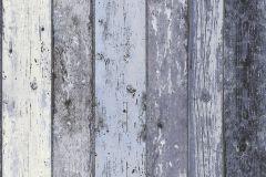 8550-60 cikkszámú tapéta.Csíkos,fa hatású-fa mintás,fekete,kék,súrolható,illesztés mentes,vlies tapéta