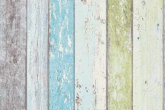 8550-77 cikkszámú tapéta.Csíkos,fa hatású-fa mintás,kék,szürke,zöld,lemosható,illesztés mentes,vlies tapéta