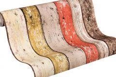 8951-27 cikkszámú tapéta.Csíkos,fa hatású-fa mintás,barna,piros-bordó,súrolható,illesztés mentes,vlies tapéta