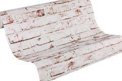 9078-13 cikkszámú tapéta.3d hatású,kőhatású-kőmintás,retro,barna,fehér,narancs-terrakotta,lemosható,vlies tapéta