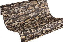 9079-12 cikkszámú tapéta.3d hatású,fotórealisztikus,kőhatású-kőmintás,retro,barna,súrolható,vlies tapéta