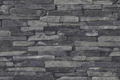 9142-24 cikkszámú tapéta.3d hatású,fotórealisztikus,kőhatású-kőmintás,fekete,szürke,súrolható,vlies tapéta