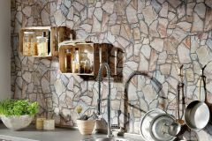 9273-16 cikkszámú tapéta.3d hatású,kőhatású-kőmintás,barna,bézs-drapp,súrolható,vlies tapéta