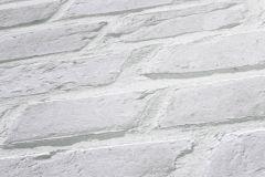 94283-2 cikkszámú tapéta.3d hatású,kőhatású-kőmintás,fehér,szürke,lemosható,vlies tapéta