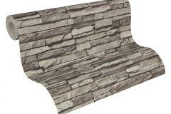 95833-1 cikkszámú tapéta.3d hatású,kőhatású-kőmintás,szürke,súrolható,vlies tapéta