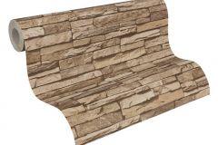 95833-2 cikkszámú tapéta.3d hatású,kőhatású-kőmintás,barna,súrolható,vlies tapéta
