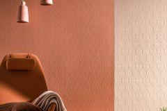 36879-4 cikkszámú tapéta.Absztrakt,különleges felületű,narancs-terrakotta,súrolható,vlies tapéta