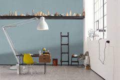 36882-2 cikkszámú tapéta.Egyszínű,különleges felületű,textil hatású,kék,súrolható,illesztés mentes,vlies tapéta