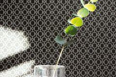 36883-1 cikkszámú tapéta.Absztrakt,különleges felületű,ezüst,fekete,súrolható,vlies tapéta