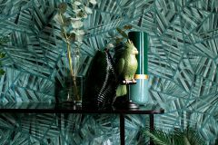 36885-1 cikkszámú tapéta.Absztrakt,különleges felületű,természeti mintás,kék,türkiz,zöld,súrolható,vlies tapéta
