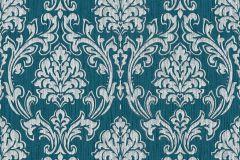 35702-1 cikkszámú tapéta.Barokk-klasszikus,különleges motívumos,kék,szürke,zöld,lemosható,vlies tapéta