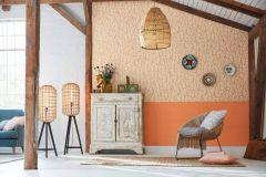 35711-2 cikkszámú tapéta.3d hatású,absztrakt,különleges felületű,narancs-terrakotta,lemosható,vlies tapéta