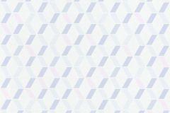 36523-3 cikkszámú tapéta.Absztrakt,különleges felületű,fehér,kék,lila,pink-rózsaszín,súrolható,vlies tapéta