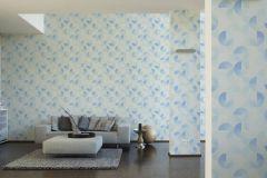 36524-2 cikkszámú tapéta.Absztrakt,geometriai mintás,különleges felületű,fehér,kék,szürke,súrolható,vlies tapéta