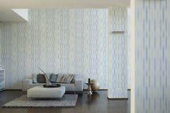 36525-2 cikkszámú tapéta.Csíkos,dekor,különleges felületű,fehér,kék,súrolható,illesztés mentes,vlies tapéta