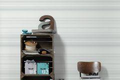 36526-2 cikkszámú tapéta.Csíkos,különleges felületű,fehér,szürke,gyengén mosható,vlies tapéta