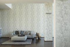 36674-1 cikkszámú tapéta.Különleges felületű,virágmintás,fehér,szürke,súrolható,vlies tapéta