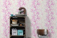 36674-2 cikkszámú tapéta.Különleges felületű,virágmintás,fehér,pink-rózsaszín,súrolható,vlies tapéta