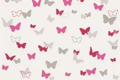 30289-2 cikkszámú tapéta.állatok,gyerek,természeti mintás,bézs-drapp,fehér,pink-rózsaszín,piros-bordó,szürke,lemosható,illesztés mentes,vlies tapéta