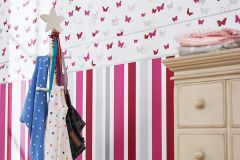 30290-2 cikkszámú tapéta.állatok,gyerek,természeti mintás,bézs-drapp,pink-rózsaszín,piros-bordó,szürke,vlies bordűr