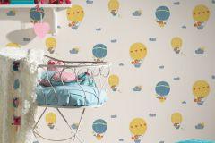 30295-2 cikkszámú tapéta.állatok,gyerek,bézs-drapp,kék,lila,narancs-terrakotta,sárga,vajszín,lemosható,vlies tapéta