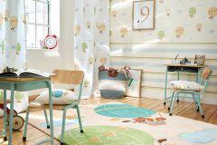 30295-3 cikkszámú tapéta.állatok,gyerek,bézs-drapp,kék,lila,narancs-terrakotta,zöld,lemosható,vlies tapéta