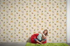 30303-2 cikkszámú tapéta.Absztrakt,állatok,gyerek,rajzolt,barna,bézs-drapp,fehér,narancs-terrakotta,sárga,szürke,vajszínű,zöld,gyengén mosható,papír tapéta