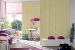 30304-1 cikkszámú tapéta.Csíkos,fehér,sárga,gyengén mosható,illesztés mentes,papír tapéta