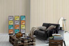 30304-2 cikkszámú tapéta.Csíkos,bézs-drapp,fehér,gyengén mosható,illesztés mentes,papír tapéta