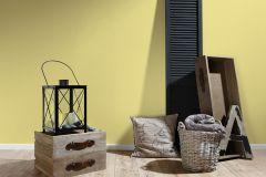 30305-5 cikkszámú tapéta.Egyszínű,sárga,gyengén mosható,illesztés mentes,papír tapéta