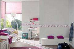 2193-12 cikkszámú tapéta.állatok,gyerek,fehér,pink-rózsaszín,szürke,vlies bordűr