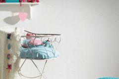2194-35 cikkszámú tapéta.Dekor,gyerek,pöttyös,fehér,pink-rózsaszín,szürke,lemosható,illesztés mentes,vlies tapéta