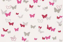 30289-2 cikkszámú tapéta.állatok,dekor,gyerek,pink-rózsaszín,piros-bordó,szürke,lemosható,illesztés mentes,vlies tapéta