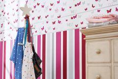30290-2 cikkszámú tapéta.állatok,gyerek,pink-rózsaszín,piros-bordó,szürke,vlies bordűr